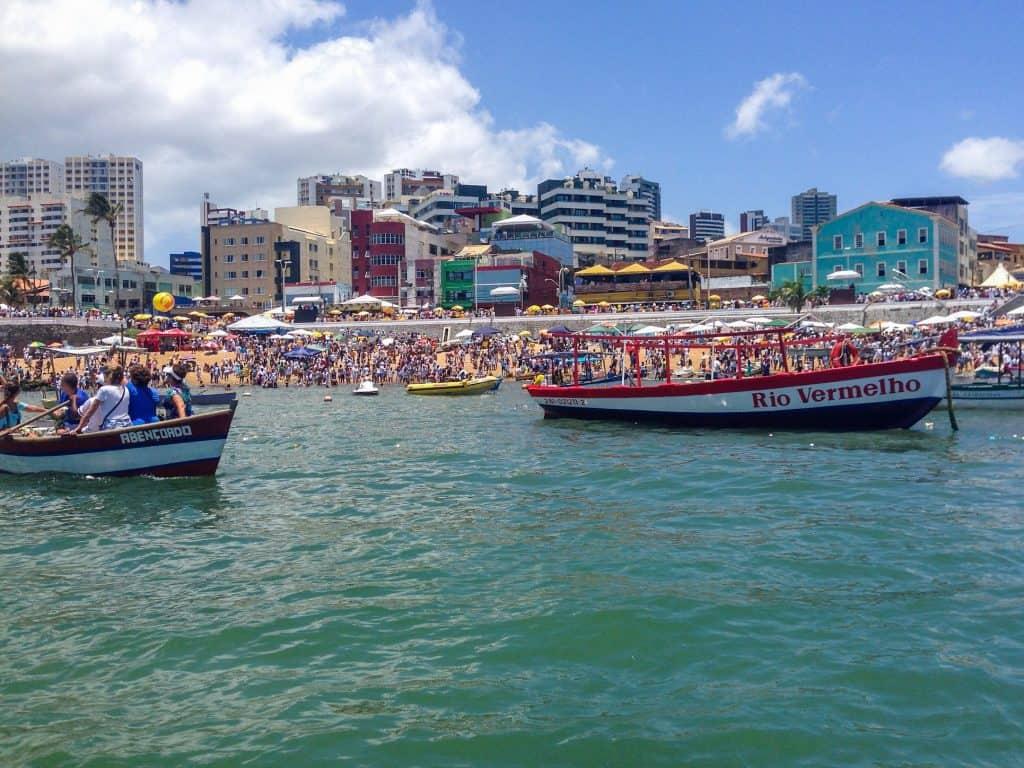 Photo of Rio Vermelho shoreline from a boat