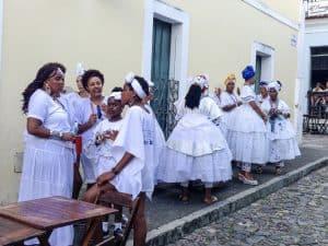 Brazilian women on the street